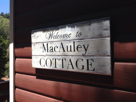 Cottage Sign with family name and established date, personalized and custom,