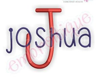 Joshua Adorable Whimsical Handwritten Font - Great for boys & girls!- Instant Download Machine embroidery design