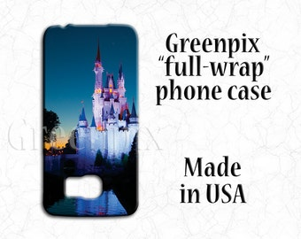Cinderella Castle Disney Samsung Galaxy S6 S7 phone case, iPhone 6 Plus, Galaxy S5, Princess, Magic Kingdom, original photography, full wrap
