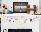Fabric Happy Birthday Banner