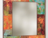 34 x 30 Copper and Metal  Mirror