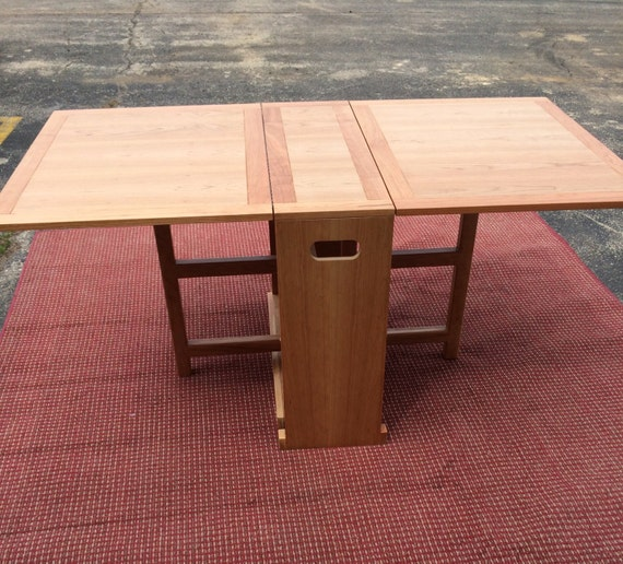 Foldable cherry dining table great for small spaces - Foldable dining tables for small spaces model ...