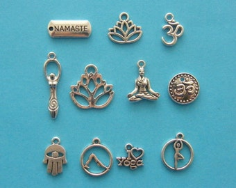 The Yoga Collection - 11 different antique silver tone