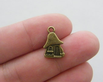 12 House charms antique bronze tone BC159