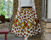 Lidia Skirt/Holland wax/Full pleated skirt/Wax print/ Jupe wax/African skirt/African print clothing/African fashion/