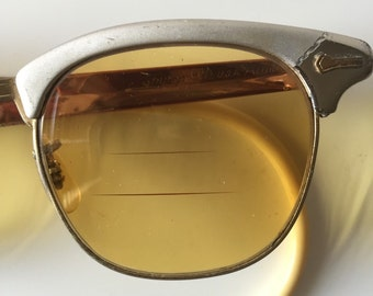 Vintage sunglasses Shuron 6 1/2 USA Alum   Continental eyewear spectacles