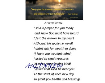 A PRAYER FOR YOU Download