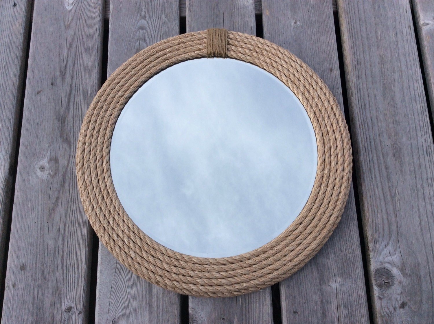 Small round mirrors for crafts - Small Frameless Mirrors For Crafts Nautical Round Rope Mirror