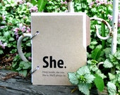 Journal, Diary for Girls with Writing Prompts - Introspective She Journal Brown Pine Bark 1.0