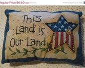On Sale This Land Is Our Land Americana Pillow Decorative Flag Pillow