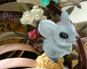 Handpainted miniature fairy tale Gray Mouse (1 piece)(2 inches tall) Cinderella mice friend for cosplay, decoration,wedding favor,doll house