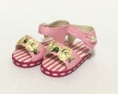 Pink Flower Mary Janes for BJD Dolls YO-SD, LittleFee, Ange Ai, Ciao Bella S00072B
