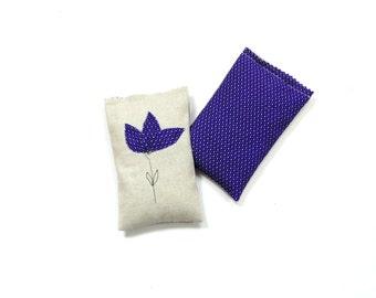 Lavender rose sachets, bridesmaids gift, linen organic lavender sachet, scented sachet gift, drawer freshener