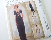Bridesmaids Dress Sewing Pattern McCalls 9229 A, Size 6, 8 and 10, Bust 30.5, 31.5, 32.5  Inches