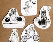 Shiba Inu Temporary Tattoos - Set of Five Tattoos