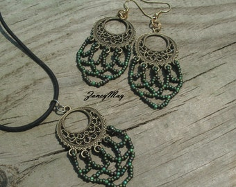 Seed Bead Earring Pattern in PDF