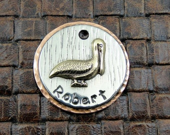 Dog ID Tag,Pelican,Custom Dog ID Tag,Pet Collar Tag,Personalized Dog ID Tag, Dog Tag for Dogs