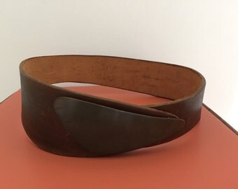 One of a kind hand made custom leather belt with bronze buckle