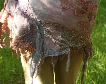 CUSTOM ORDER Purple haze, festival burning man fae costume piece, whimsical mini skirt