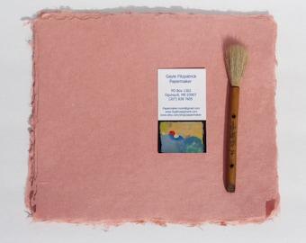 NEW Eight 8 x 10 inch sheets of handmade salmon abaca kozo paper