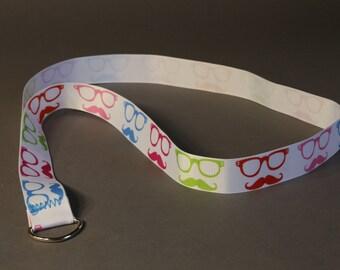 Glasses-Mustache Lanyard