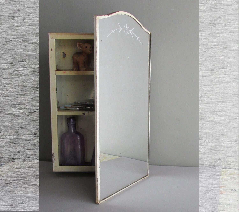Vintage Recessed Medicine Cabinet Curved Top Mirror