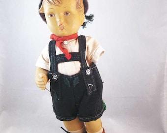 Vintage JACKL M J HUMMEL Doll W/Tags Damaged For Parts