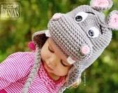 PATTERN Happy Hippo the Hippopotamus Hat Crochet PDF Pattern