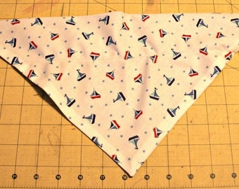 Dog Bandana, sailboat, summer, nautical, ocean, boat, neckerchief