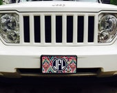 Monogram Lilly License Plate