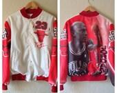 VTG Chicago Bulls Michael Jordan NBA Chalkline Jacket