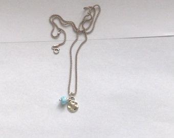 Tiny Antique Larimar pendant tiny pendant lovers Larimar charm *Chain not Included*
