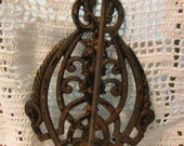 Vintage Cast Iron Wall Mount Receipt Holder Hook Spike- General Store