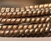 Copper Ring Stock Shank 4mm Twist Pattern Super Heavy Textured Metal Wire - Rings Bracelets Pendants Metalwork