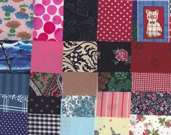 Vintage Fabric Precut 2 1/2 Inch Square Pieces 50 Cotton Material 4 Charm Quilting Sewing Projects Variety Pack 9 J
