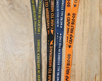 NEW DESIGNS!!!  MORE Geeky Fandom Lanyards.  pick one...