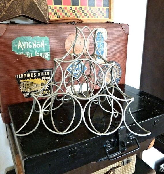 Vintage Wire Rack Fruit Pyramid 1960s Retro Kitchen Display