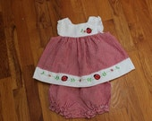 Lady bug size 3-6 months dress
