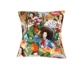 Mexican Senoritas  Pillow Cover Pillow Case 18 x 18