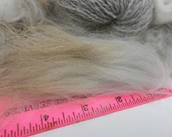 Chestnut/Grey Angora Rabbit Fiber PLUCKED 1 ounce
