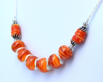 Orange Necklace for Her