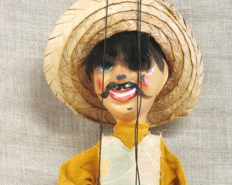 Marionette , Puppet , Mexican Puppet , Doll , Souvenir , Ranchero , Toys , Mexico , Male Doll , Puppet Show , Sombrero , String Toy , Male