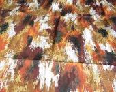 Vintage 5th Avenue Retro Mid Century Abstract Barkcloth Fabric
