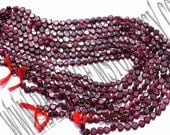 Garnet Faceted Heart (Quality AA) /  5.5 to 6.5 mm / 12 to 14 Grms / 36 cm / GA-040