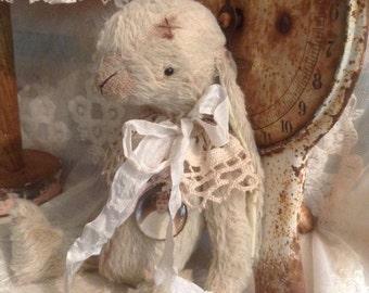 "sewing pattern pdf e-pattern 14 cm 5.5"" for handmade viscose Mohair artist teddy bear bunny vintage style"