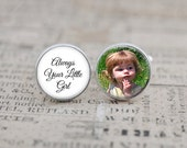 Always Your Little Girl Cufflinks, Custom Photo Father of the Bride Cuff Links, Personalized Gift for Dad