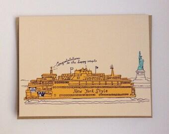 NYC Ferry Wedding Card