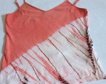 SALE- Cute Vintage Tie-Dyed Tank Top with Beading Embellishment