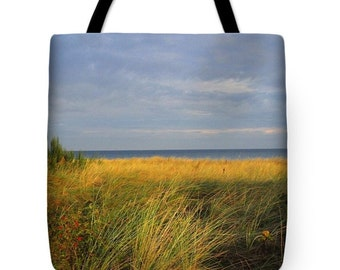 My Love Awaits Me by the Sea Tote Bag