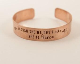 """CUSTOM 6"""" x 1/2"""" Copper Cuff Bracelet - Copper Quote Bracelet"""